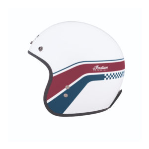 INDIAN WHITE STRIPES OPEN HELMET