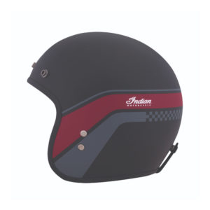 INDIAN BLACK MATTE STRIPE OPEN HELMET