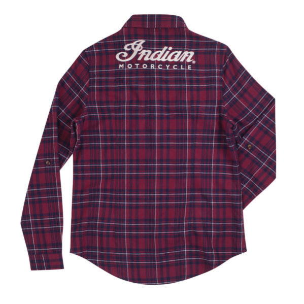 INDIAN WOMANS RED PLAYED SHIRT