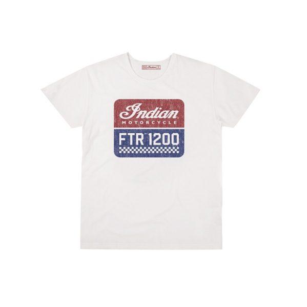 FTR1200-HERREN LOGO T-SHIRT WEISS