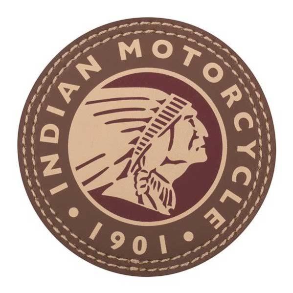 INDIAN HEADDRESS LEDER-PATCH