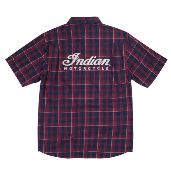 INDIAN MENS PLAID SHIRT RED