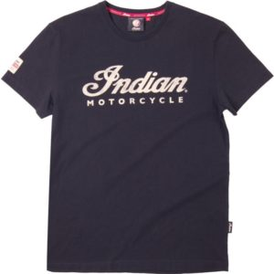 INDIAN MENS ECRU LOGO TEE