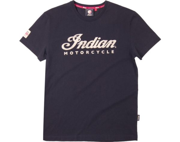 INDIAN MENS ECRU LOGO TEE