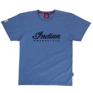 INDIAN MENS BLUE LOGO TEE