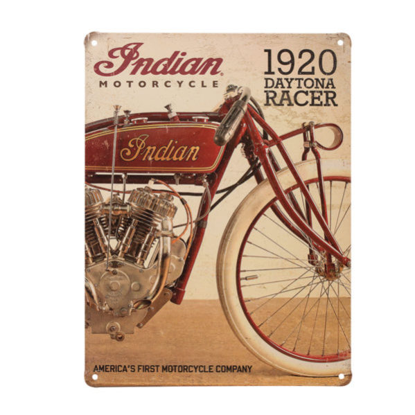INDIAN 1920 DAYTONA RACER SIGN - METALLSCHILD