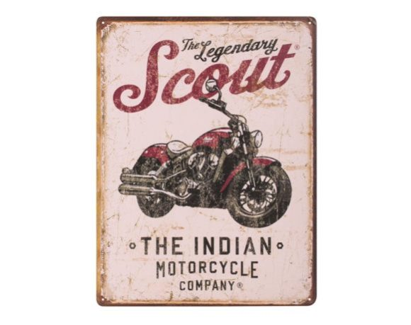 INDIAN SCOUT MOTORCYCLE SIGN - METALLSCHILD