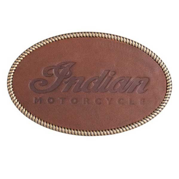 INDIAN WOMENS LEATHER EMBOSSED BUCKLE - GÜRTELSCHNALLE